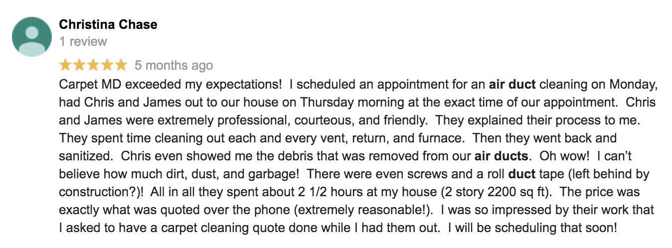 Duct Cleaning Review